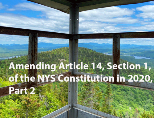 Debate over amendments to Article 14 in the NYS Constitution in 2020, Part 2: amendment is needed to clean up violations at the Mt. Van Hoevenberg Olympic Winter Sports complex